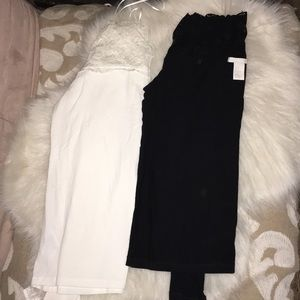H&M Cute long sleeve ,lace cross shoulder top